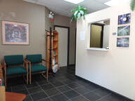 Massage Clinic reception waiting room